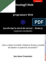 Web05DezvoltareaAplicatiilorWeb Javascript Nodejs