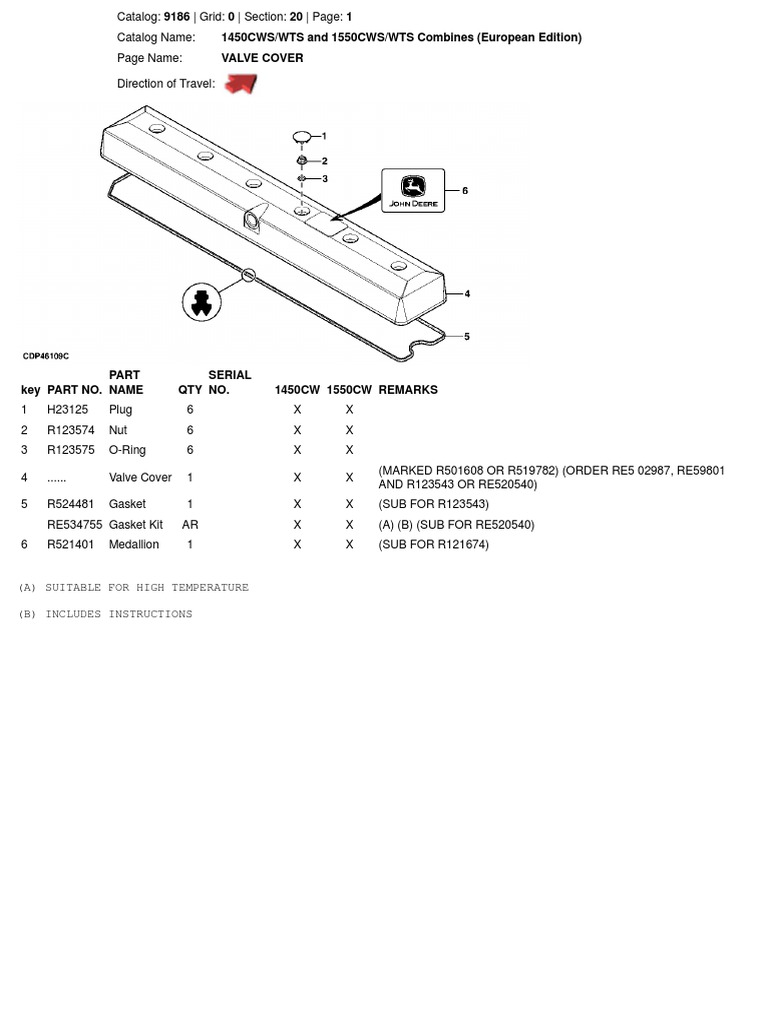 JD 1450 1550 CWS WTS Diagram Wiring Solenoid W on
