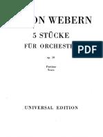 Webern - 5 Piezas Para Orquesta