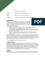 Environmental Goals and Policies Status Report