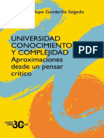 Asedios a la totalidad Gandarilla Salgado Universidad Conocimiento Complejidad
