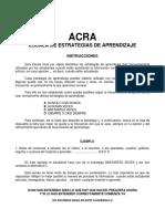 Cuadernillo Escala de Estrategias de Aprendizaje (ACRA) (Tea Ed.)