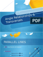 angle relationships   transversals