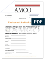 Amco Interview Form