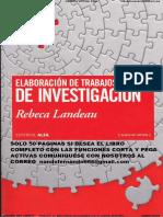 Elaboracion de Trabajos de Investigacion Landeau Muestra