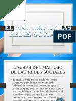 El Mal Uso de Las Redes Sociales