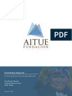 Estudio Onomástica Mapuche