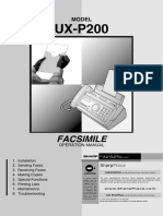 Manual de Fax Sharp UX-P200