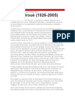 Osvaldo Coggiola - Pierre Broué (1926 - 2005)