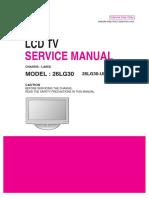 Lg La85d 26lg30 Tv de Lcd(Manual de Serviço)