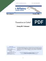 Transition in Cuba
