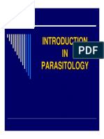 Lecture 01 - Introduction to Parasitology