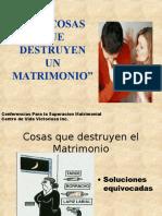 Cosas que destruyen el matrimonio.ppt
