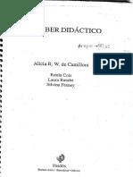 Camilloni El Saber Didactico