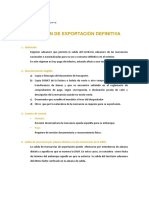 Régimen de Exportación