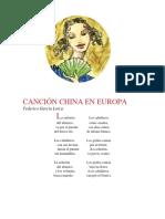 Canción China en Europa