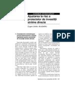 Ajustarea La Risc a Proiectelor de ISD - BULBARIU