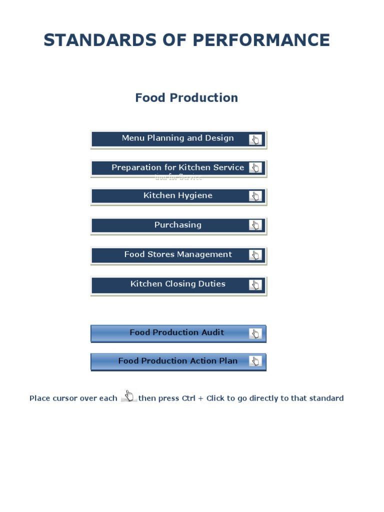 SOP Food Production   Menu   Refrigerator