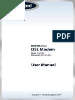 Actiontec DSL Modem Operations Manual
