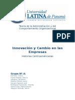 Trabajo Escrito de Grupo 4- Cambios e Innovacion