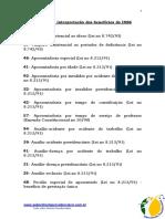 8.11- Códigos de Interpretação Dos Benefícios Do INSS