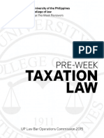 Taxation 2015 UP Pre-week