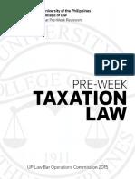 Taxation 2015 UP Pre-week