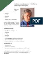 Análisis y Estudio de Libros_ La Lingüística Como Ventana a Nuestra Mente – Por Steven Pinker – Profesor de Psicología en Harvard