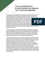 La Violación de La Convención Los Derechos Del Niño Por Parte Del Derecho Argentino y de La Justicia de Menores