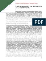 VITALE LUIS. Las Protestas Las Rebeliones y Los Movimientos Precursores de La Independencia