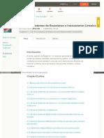 Sistemas de Ecuaciones e Inecuaciones Lineales