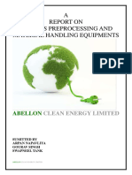 A Report on Biomass Preprocessing and Mhe