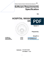 software requirement spcification document