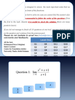Limit Excercises Student Version