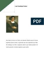 Reivindicación de Cristóbal Colón