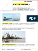 Major Sea Ports in India
