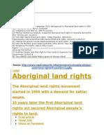Abroginal Land Rights