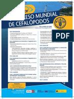 Afiche de Congreso Mundial de Cefalopodos 2012