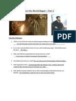 When the World Began Part 2 Answer Sheet