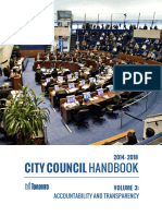 City Council Handbook - Volume 3 (Accountability and Transparency)