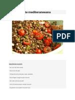 Salata de Linte Mediteraneeana