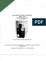 Manual de Instructivo de Destilacion