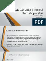 SGD 10 LBM 3 Modul Hematopoietin