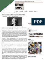 Conferencia de Oscar Wilde a Estudiantes de Arte (1883)