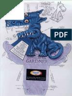 Blue Dragon - Paprt Craft model