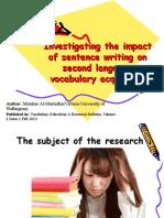 Presentation 1 lexicology