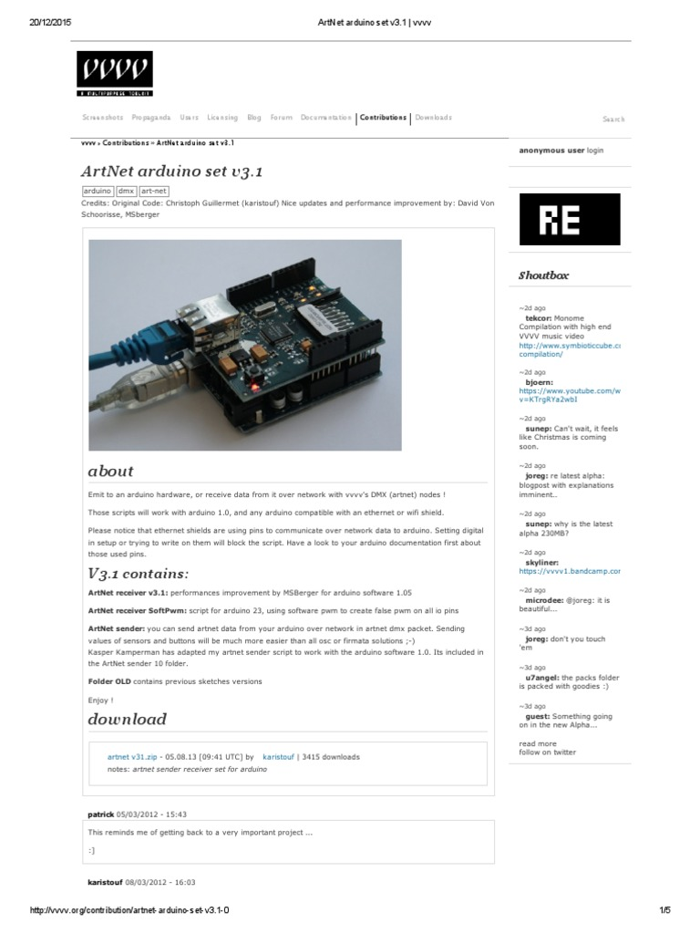 ArtNet Arduino Set v3 | Arduino | Computer Networking