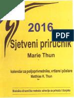 Matthias Thun - Sjetveni Priručnik Marie Thun 2016