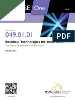 Backhaul Technologies Small Cells