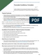 Pmfias.com-Tropical Cyclones Favorable Conditions Formation